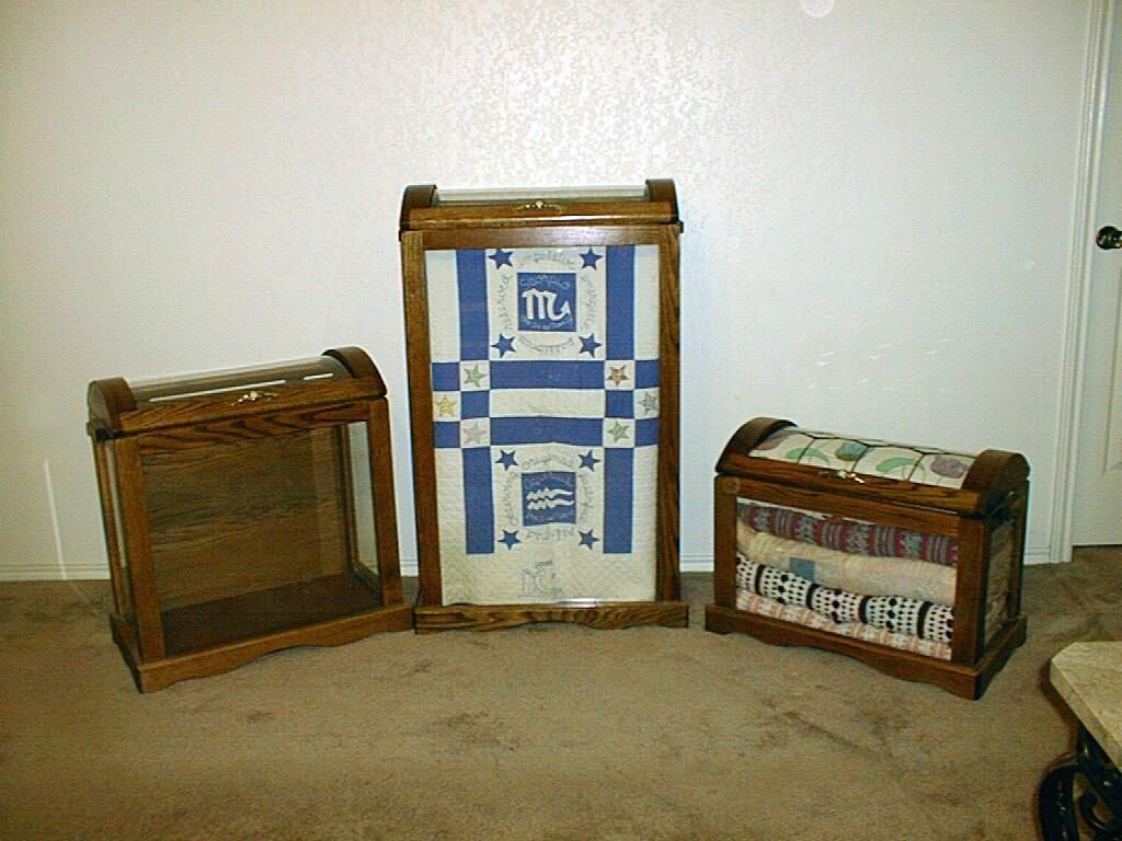 These are the three sizes in quilt chests that we carry. | Dream ... : quilt display cases - Adamdwight.com