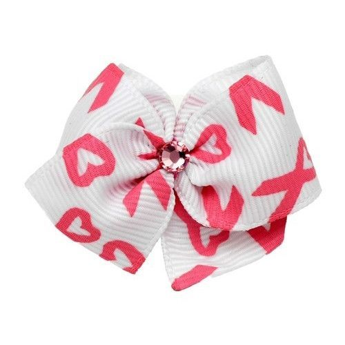 Awareness Dog Hair Bow