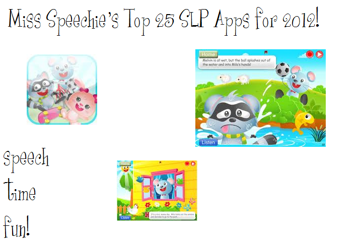 The time has arrived to crown the winners of my favorite SLP apps for 2012! Keep reading to learn more about my favorites and how I use them in my ...