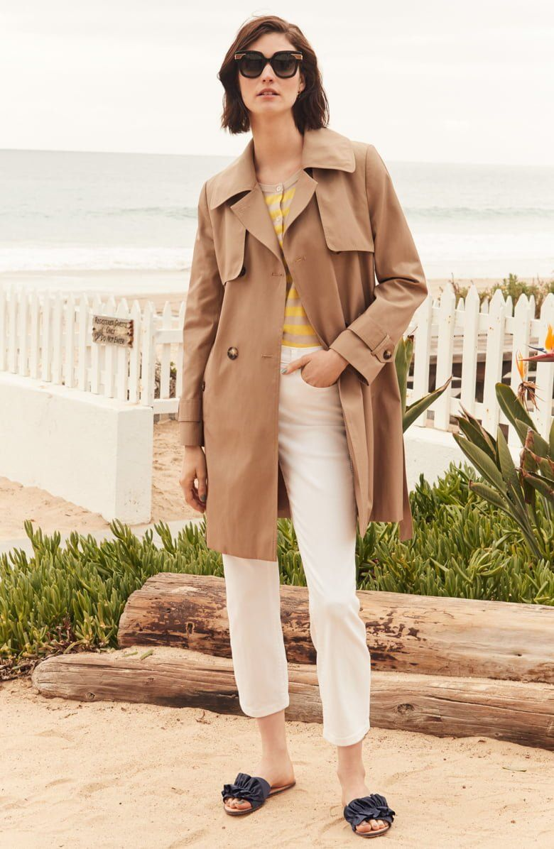 902cbaee9d82f Trench coats are the talk of the town this season, and this lighter-weight,  cotton-blend version has all the classic details.
