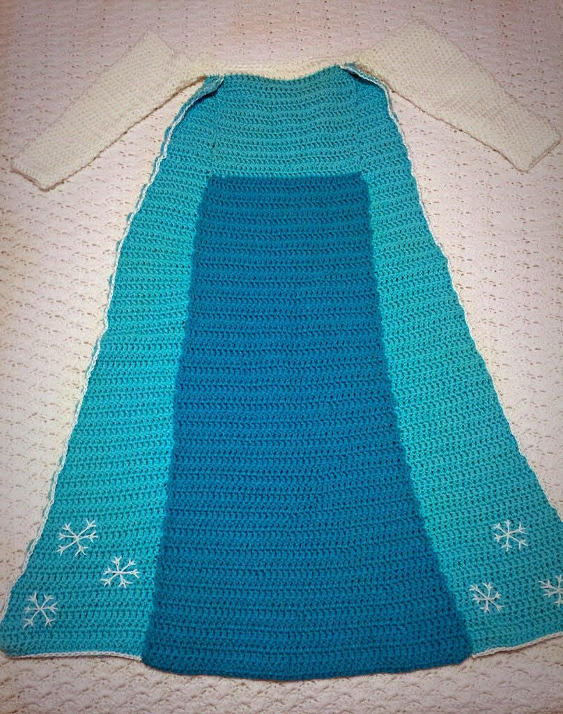 Anna and Elsa Crochet Princess Dress Blanket PATTERNS | Häkeldecke ...
