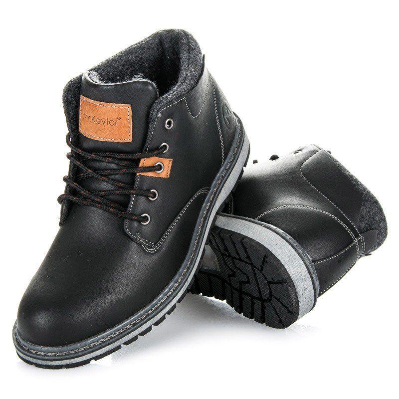 Trekkingowe Meskie Mckeylor Czarne Traperki Mckeylor Boots Hiking Boots Timberland Boots