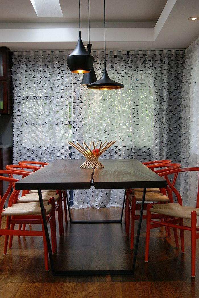 25 Trendy Dining Rooms With Spunky Orange Dining Room Table