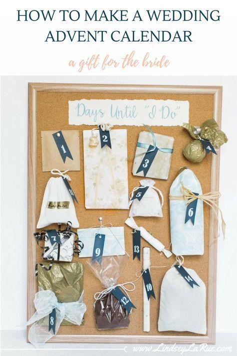 How to DIY a Wedding Advent Calendar Alyssa shower Pinterest
