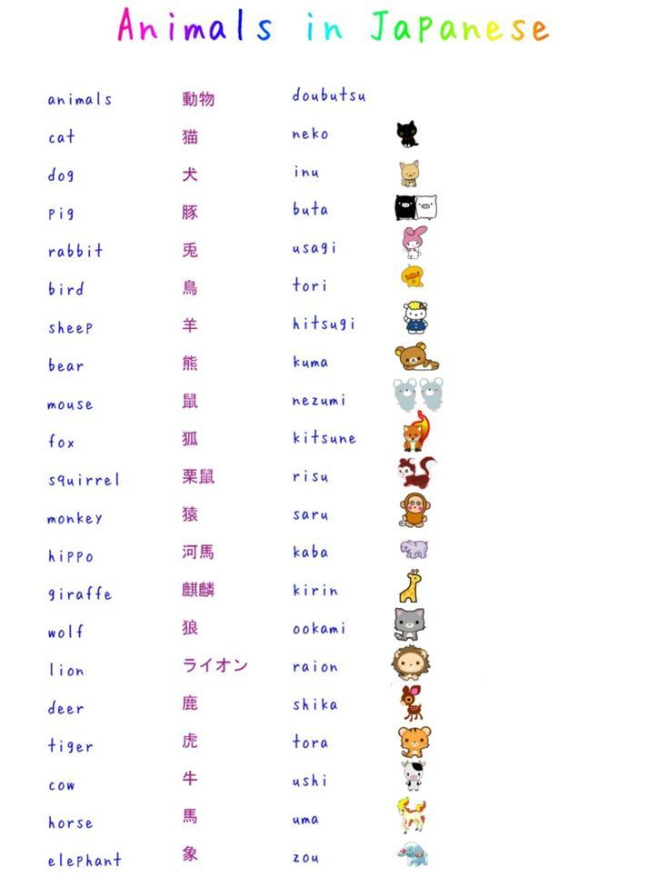 japanske citater A list of the most common Animals in Japanese | Languages  japanske citater