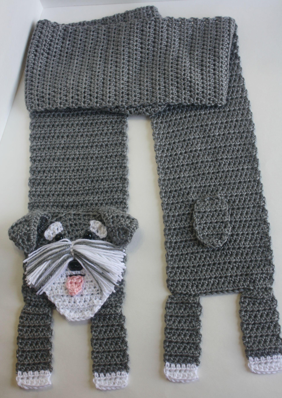 My newest dog scarf! Schnauzer! | Crochet dog, Scarf ...