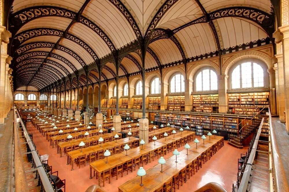 Biblioteca de Santa Genoveva (París, Francia) - Las 30 bibliotecas más espectaculares del mundo - Libertad Digital