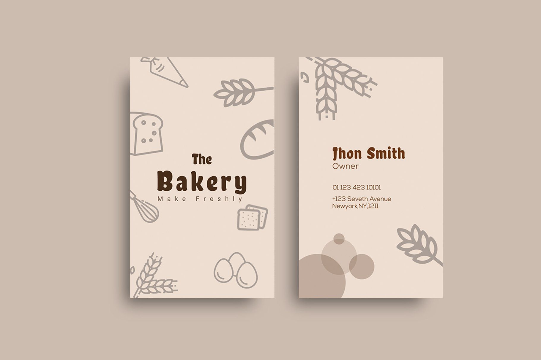 Bakery Shop Business Card Bakery Business Cards Restaurant Business Cards Marketing Business Card