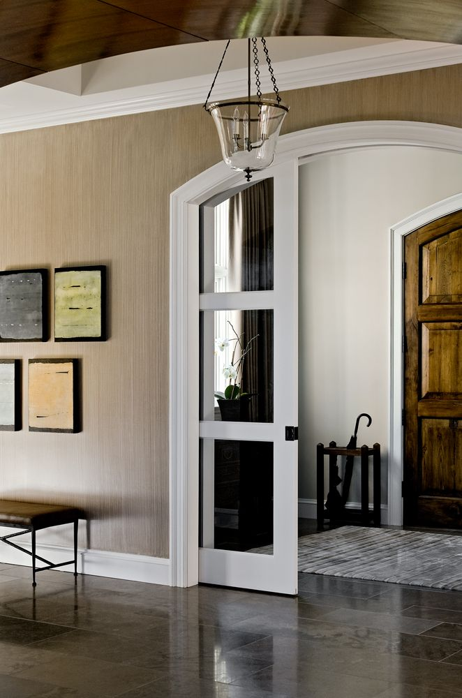 Pocket French Doors Curved Top Look More Elegant Than