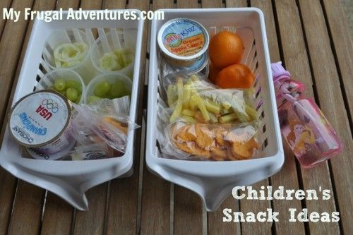 Healthy snack ideas for children.