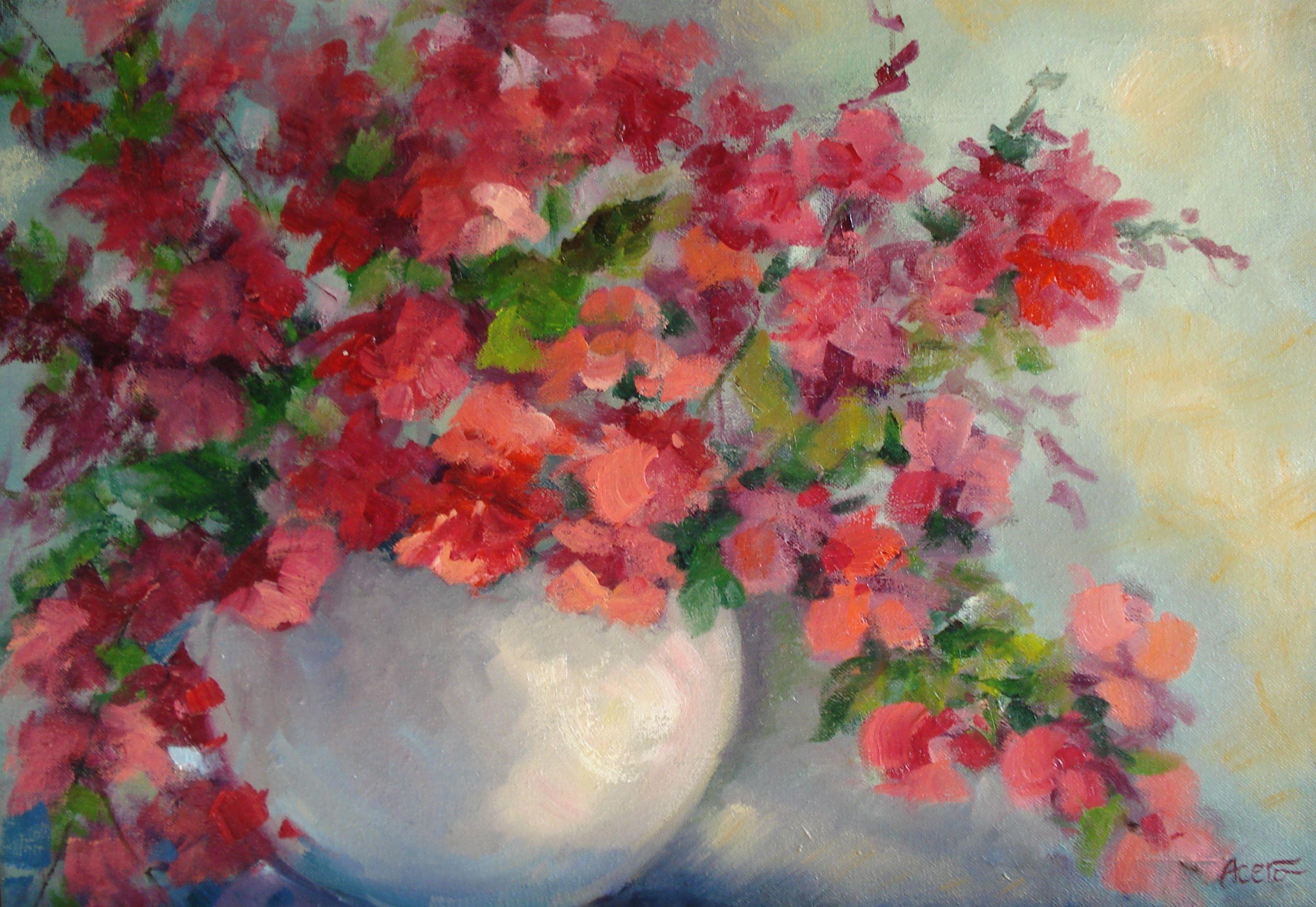 Jarrón con flores paquita acero flors pinterest