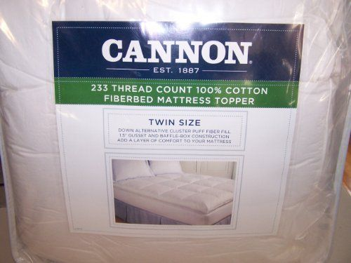 fieldcrest cannon 233 count 100% cotton fiberbed mattress topper