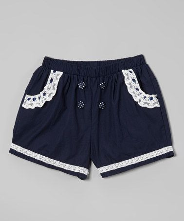 Look at this #zulilyfind! Blue Bow Shorts - Infant, Toddler & Girls by Richie House #zulilyfinds