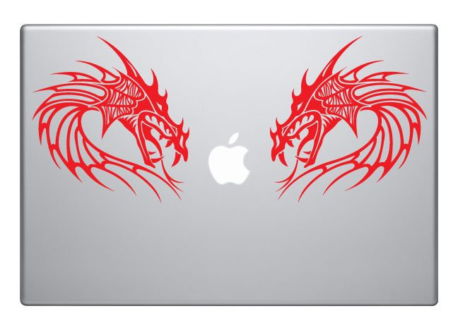 We've got some new dragons! Too bad these went onto a macbook. We do have other dragon designs and they're good for more than just creeping out your macbook. : )