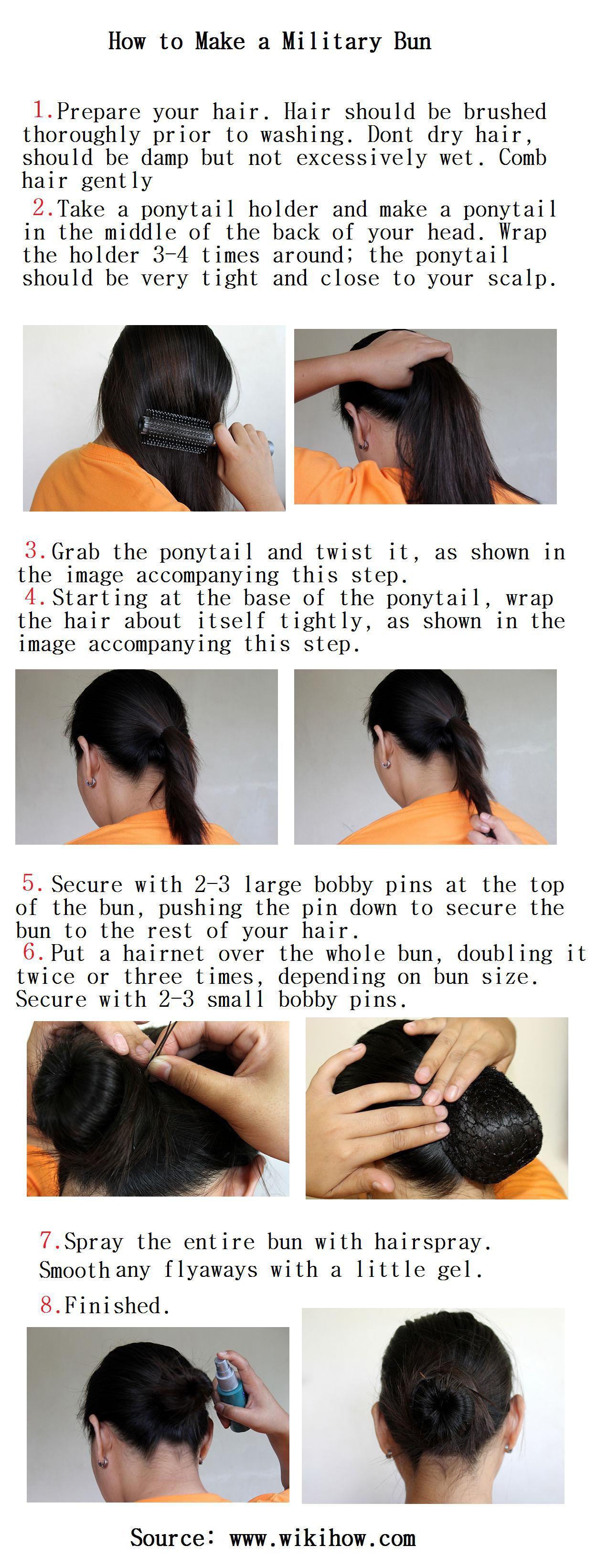 How to make a military bun how to bun hair men how to bun hair