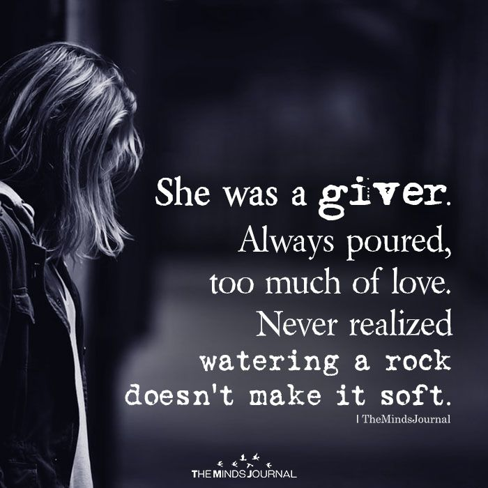 She Was A Giver