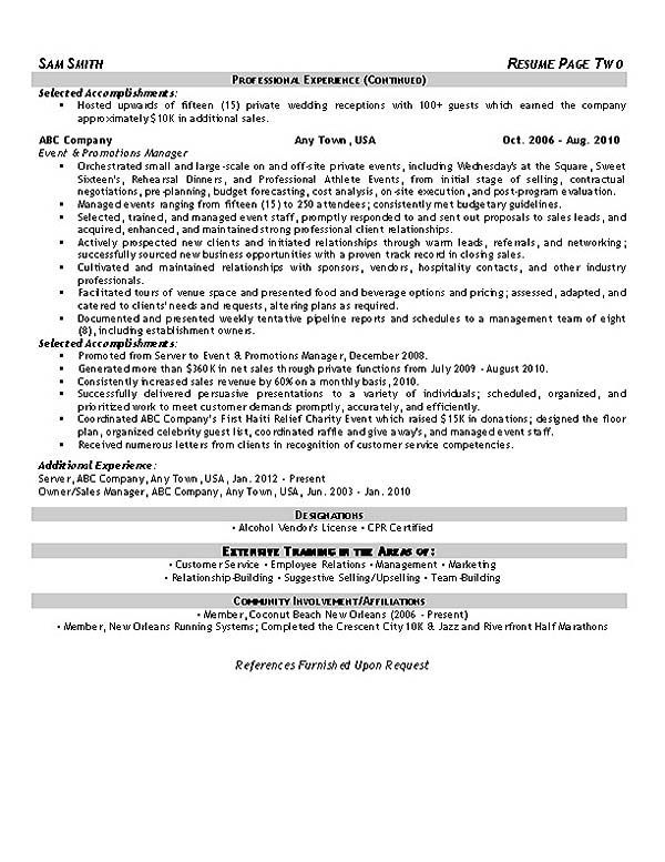 Resume Examples Event Coordinator | Pinterest | Business letter ...