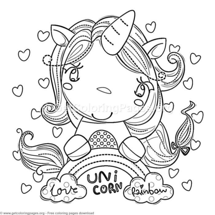 63 Cute Cartoon Unicorn Coloring Pages Unicorn Coloring Pages Unicorn Themed Birthday Party Cartoon Unicorn