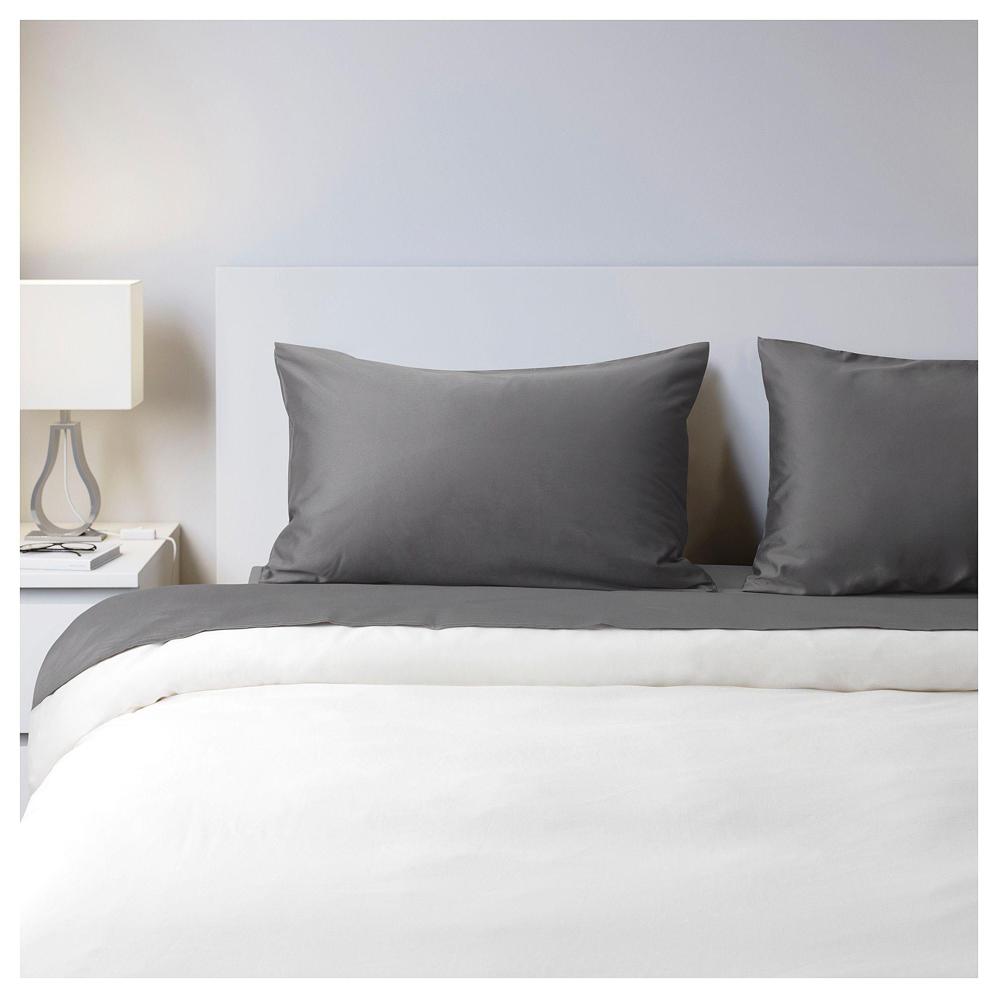 Okenstjarna Sheet Set Dark Gray Queen Ikea Grey Sheets King Flat Sheet Sheet Sets