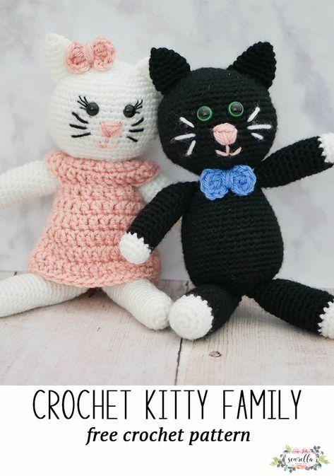 Crochet Kitty Family