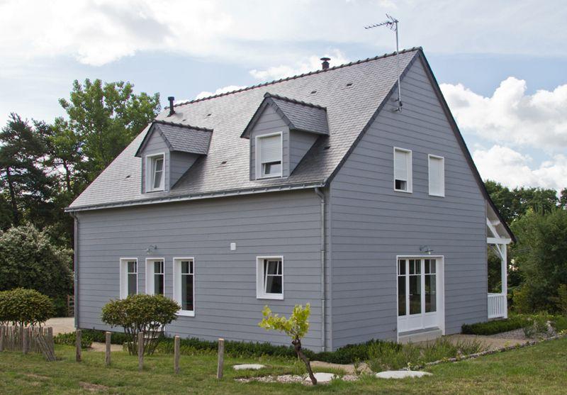 Maison bardage bois saint andr maison s a pinterest for Facade maison gris souris