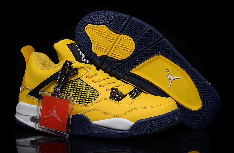 best sneakers bc112 92c48 air jordan 4 retro ls thunder  buy get new style nike air jordan 4 iv mens  shoes yellow outlet hot from reliable
