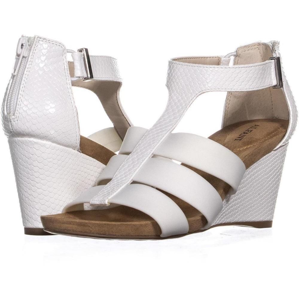 f28bd8306ef A35 Pearrl Gladiator Wedge Sandals 873 White 7 US  fashion  clothing  shoes   accessories  womensshoes  sandals (ebay link)