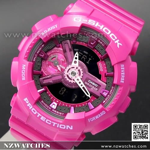 Casio G-Shock S Series Rose Motif Band Ladies Watch GMA-S110F-7A 8bfda3d0e