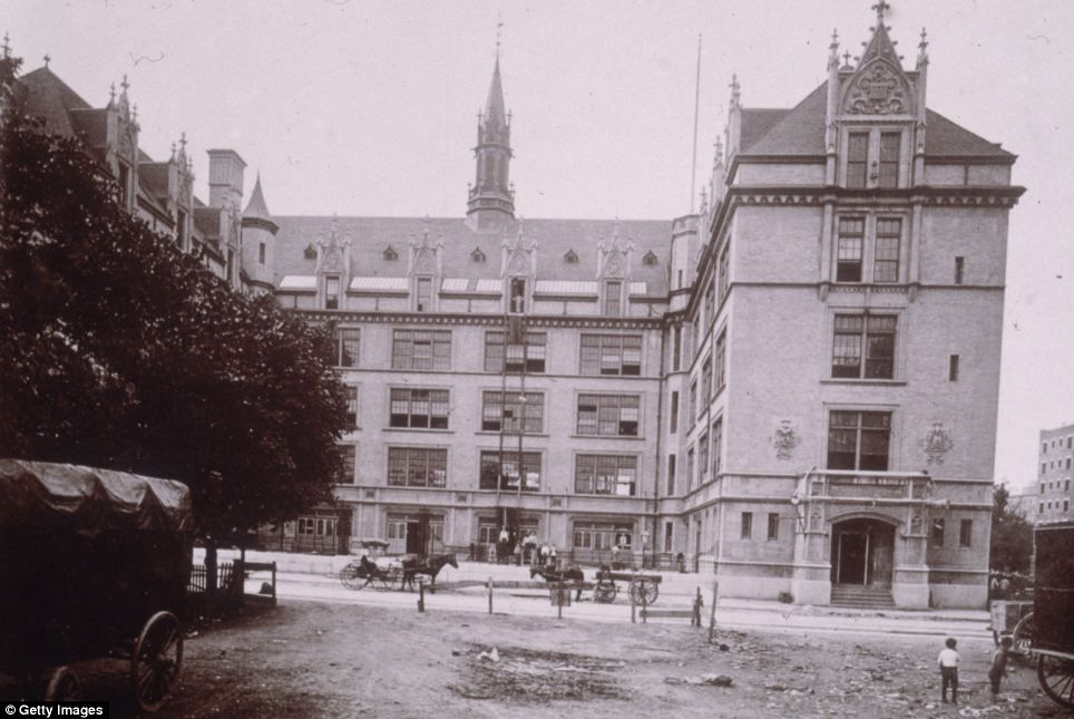 Changing face: An exterior view of Public School 165, located on West 109th Street in 1895