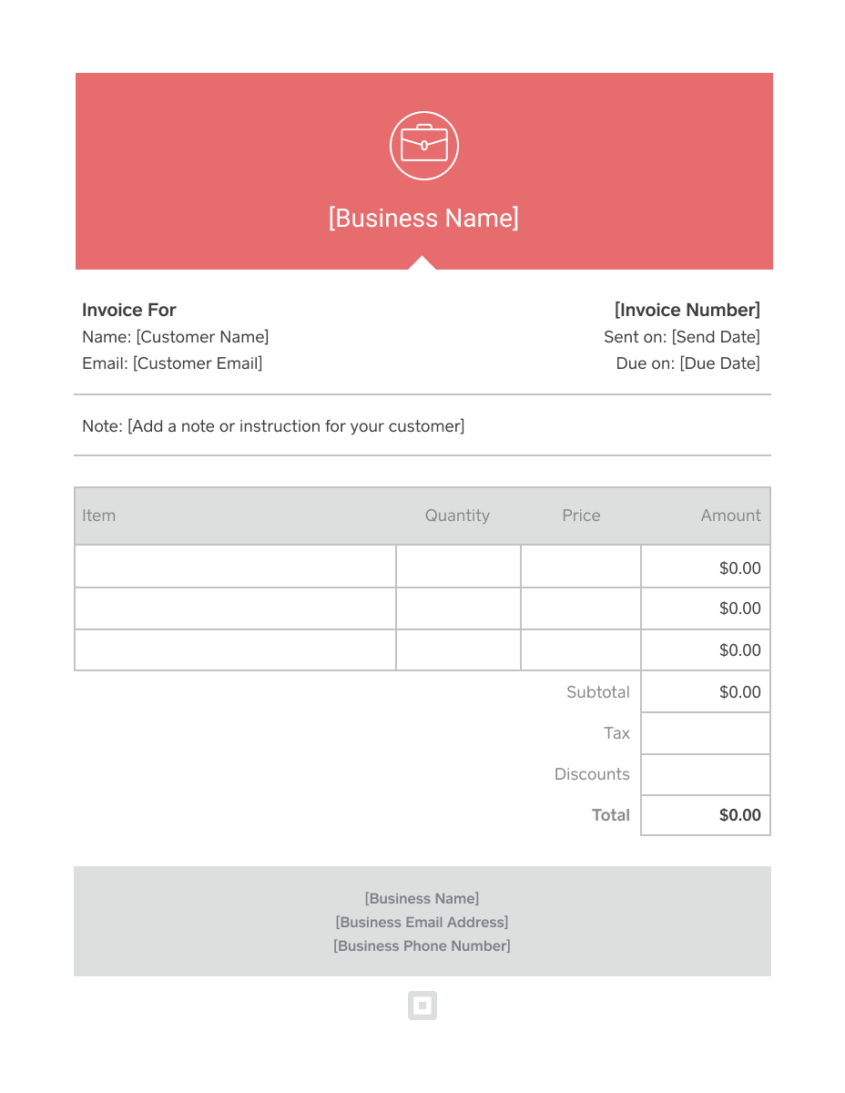 Invoice Template Generate Custom Invoices Square Pertaining To Generic Invoice Template Word 10 Pro Invoice Template Invoice Template Word Business Template
