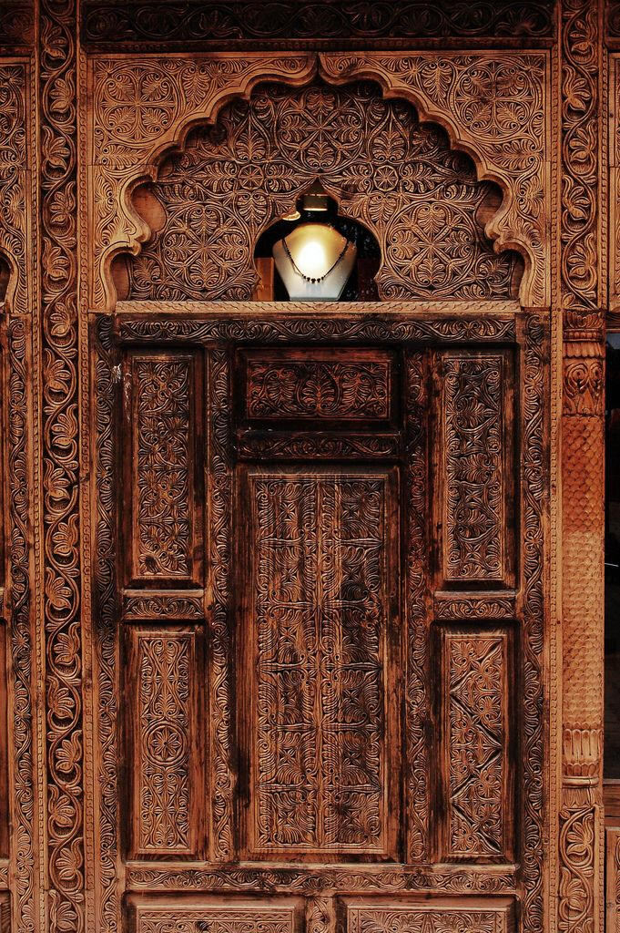 Hand carved door from swat pakistan doors gates for Wood doors in pakistan