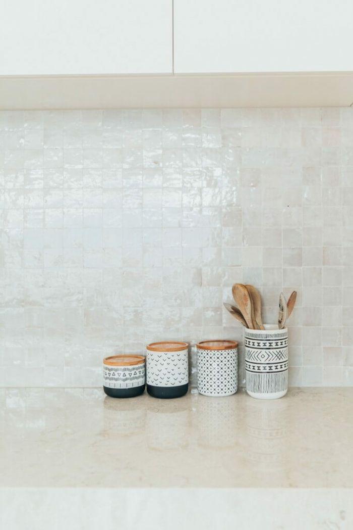 Carrelage Cuisine Zellige Blanc Interiors Addict Melbourne House Kitchen Splashback Tiles