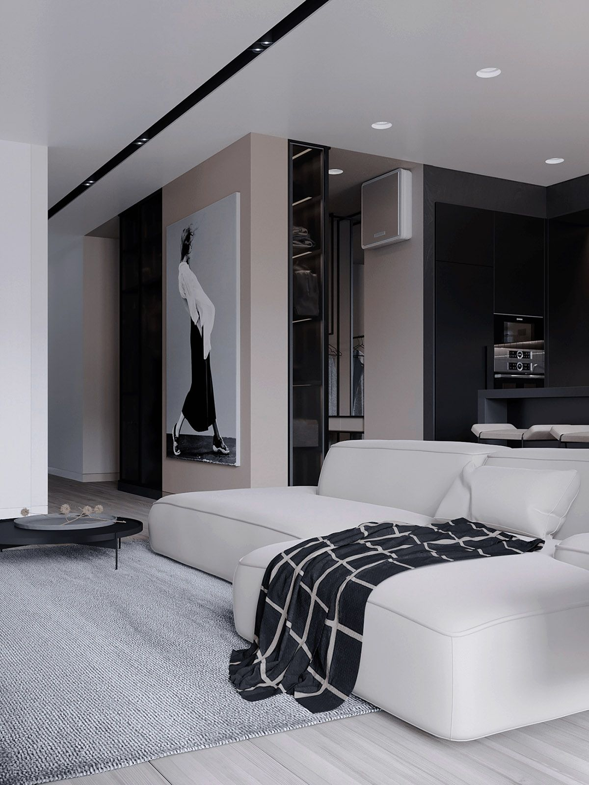 Best Black White Beige Apartment For The Fashionista Black 400 x 300