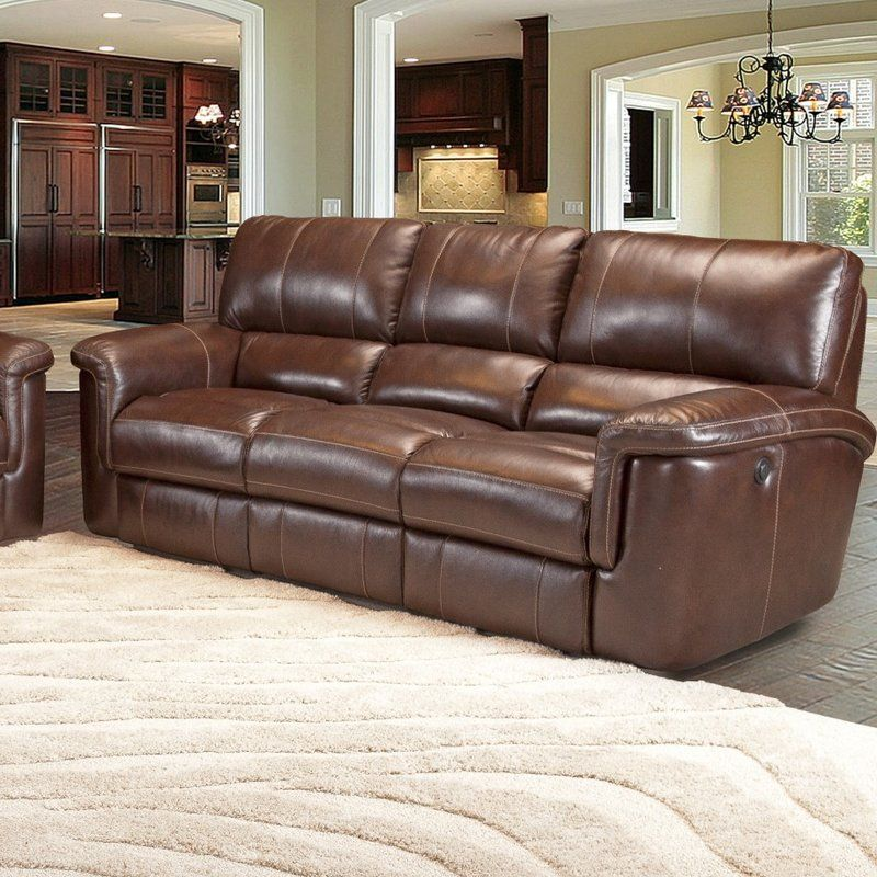 Blair Dual Leather Reclining Sofa | Living room | Leather reclining ...