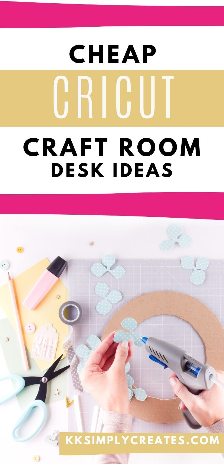 Budget Friendly Craft Desk with Storage - KK Simply Creates