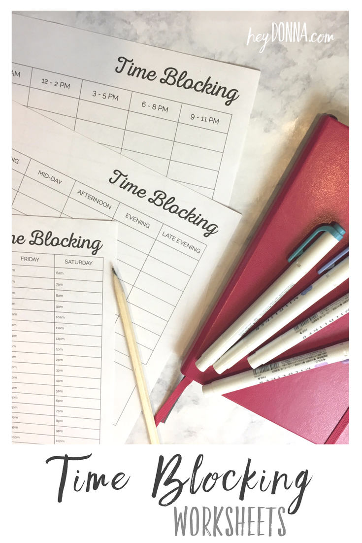 Organize Your Week With A Free Time Blocking Printable Free Planner Pages Weekly Planner Free Time Blocking Printable