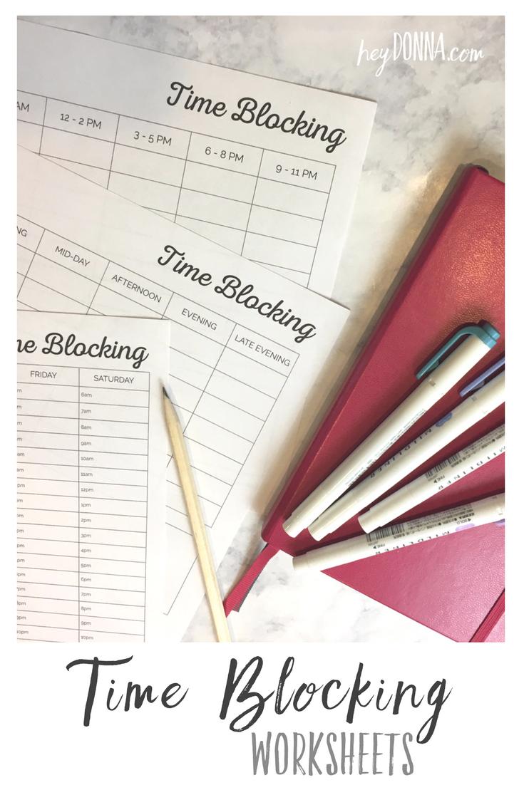 free printable time blocking worksheets free printables time management printable block. Black Bedroom Furniture Sets. Home Design Ideas