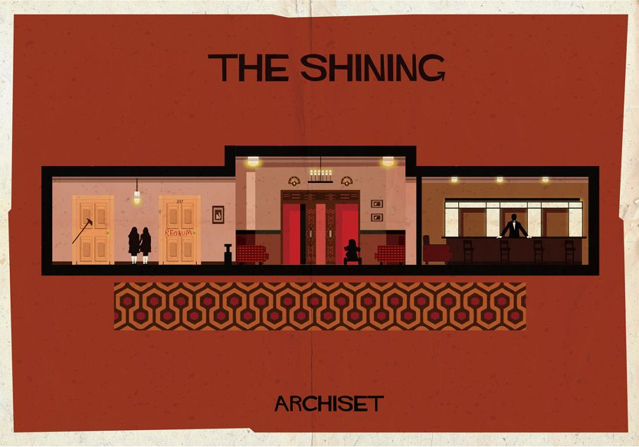 The Shining (1980). | 17 Gorgeously Geeky Posters Of Classic Film Interiors