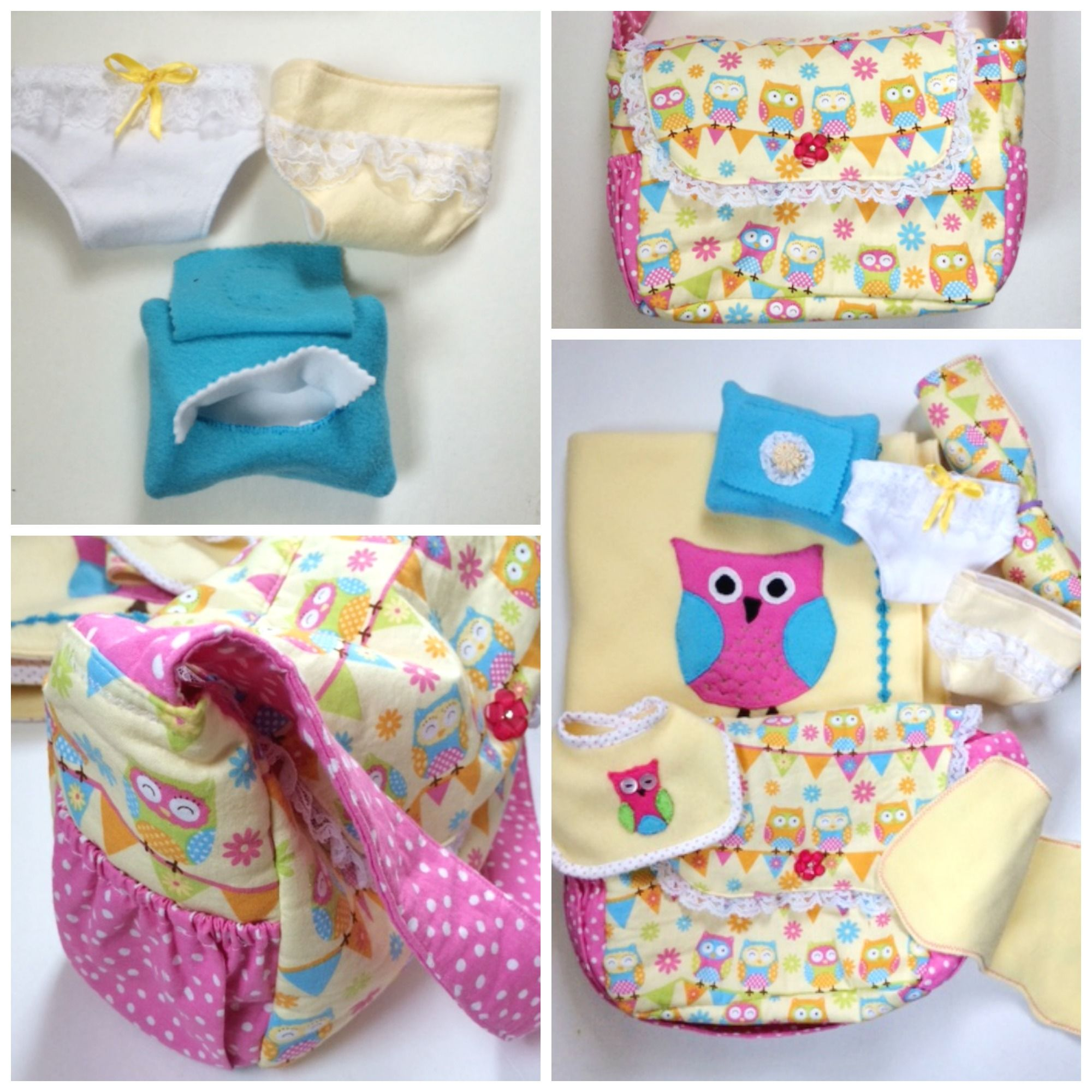 KraftsbyAng Baby Doll Diaper Bag featured on From Wine to Whine