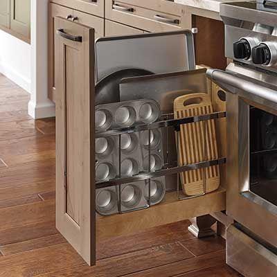 Slide Out Vertical Storage Storage Kitchen Remodel Design Vertical Storage