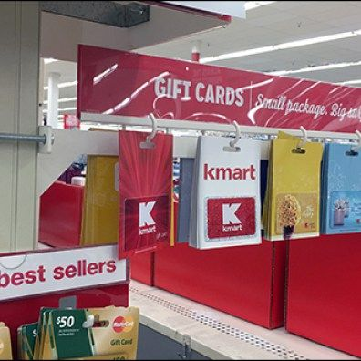 Pole Mount Gift Card Arm Uses Air Rights Fixtures Close Up Gift Card Displays Gift Card Cards
