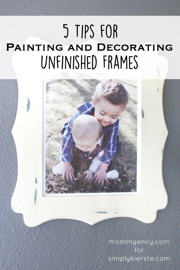 5 tips for painting & decorating unfinished frames   Diy frame ...