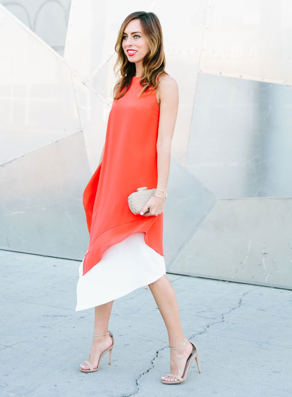 Sydne Style - Los Angeles fashion blogger and People StyleWatch contributor Sydne Summer showcases the top color trends for spring 2016 with an orange dress