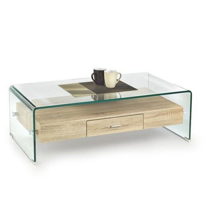 Table Basse Verre Et Bois Anael Table Basse Bois Table Basse