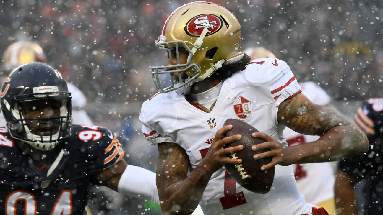 Niners to start Colin Kaepernick vs. Jets after benching