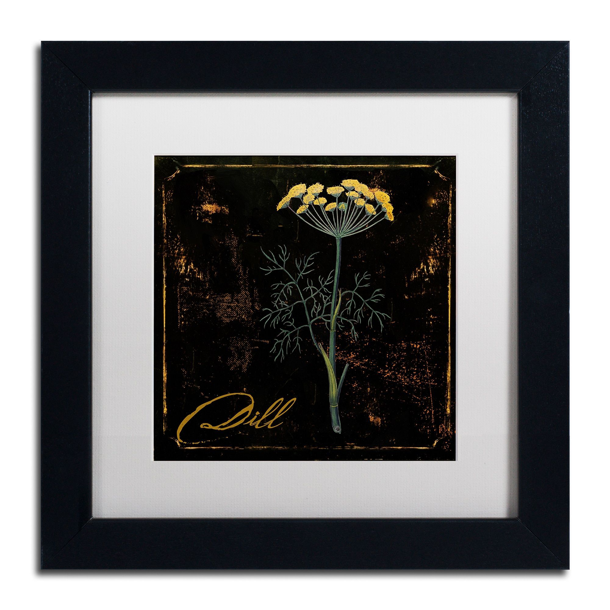 Color bakery u gold herbs iu matted framed art products