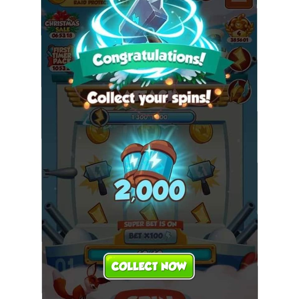 100 free spins coin master 2019