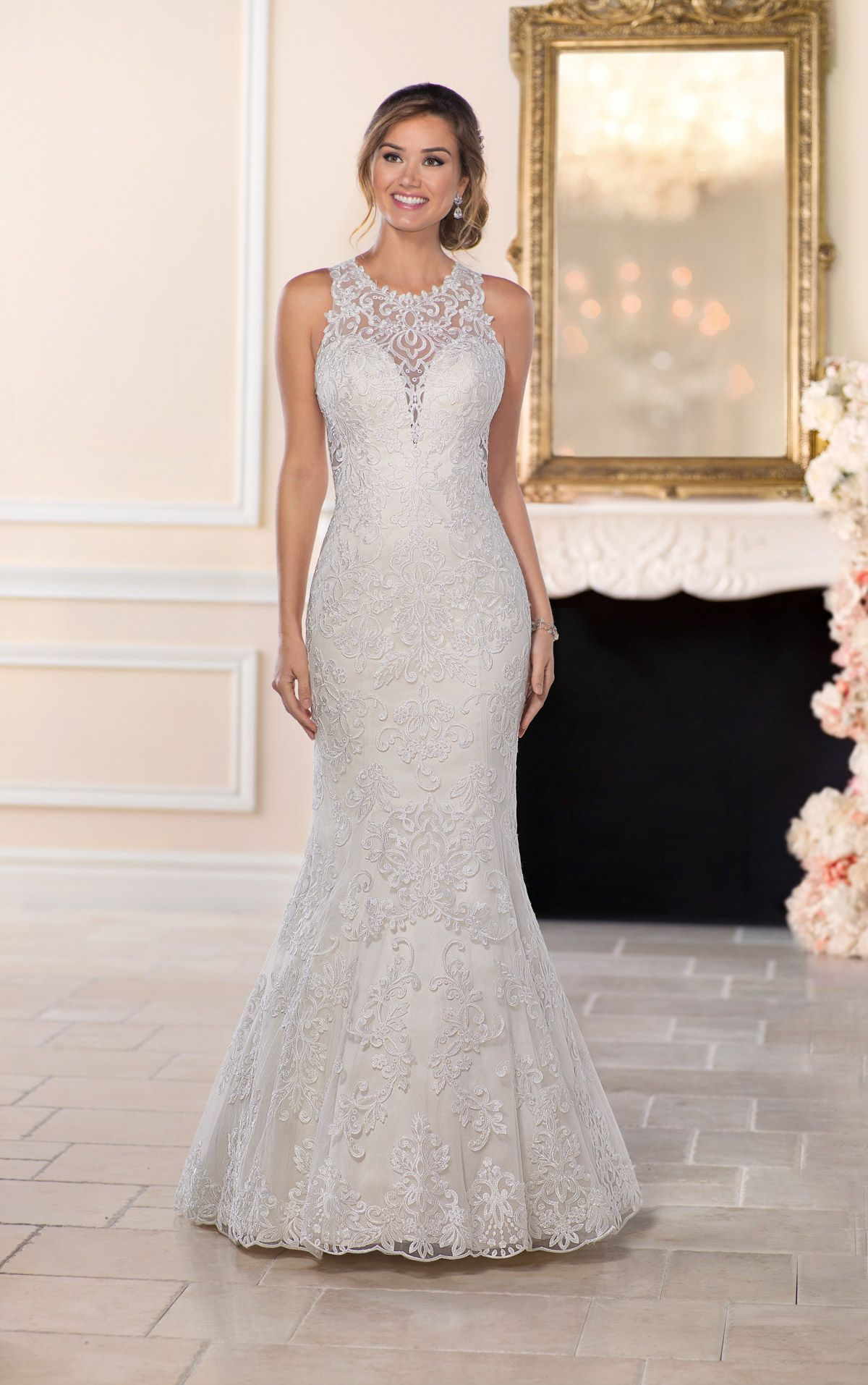 Mermaid wedding dresses with lace  Lace Wedding Dresses  Wedding Dresses I Love