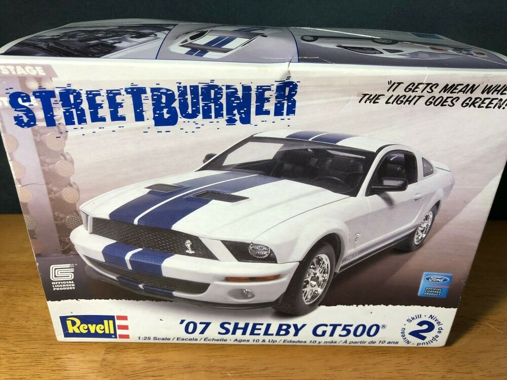 Mustang Used Parts >> Revell 07 Shelby Gt500 Streetburner Model Kit Sealed Parts Revell