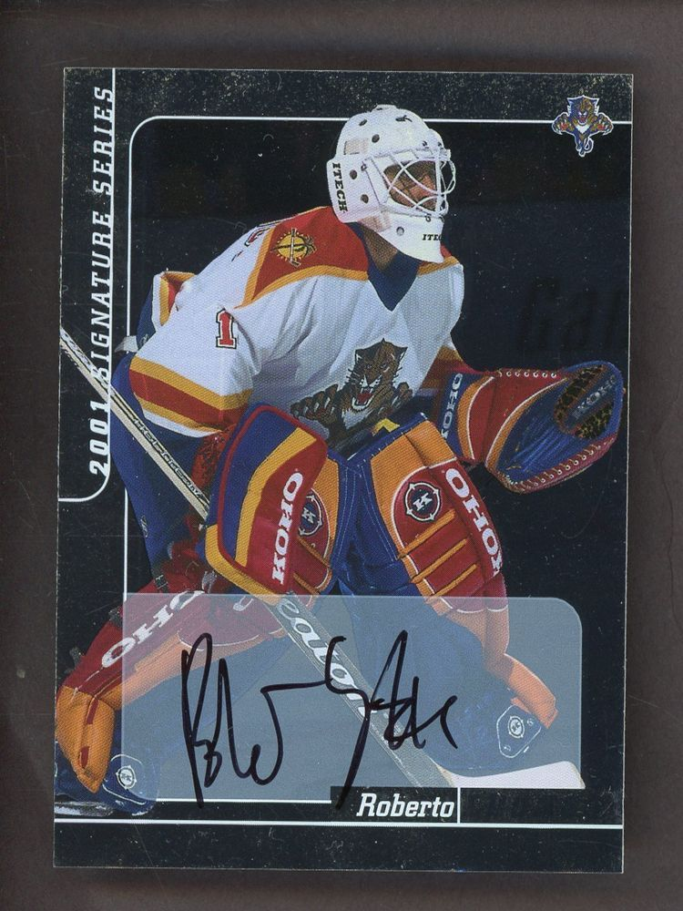 2000 In The Game Itg Roberto Luongo Signed Auto Florida Panthers